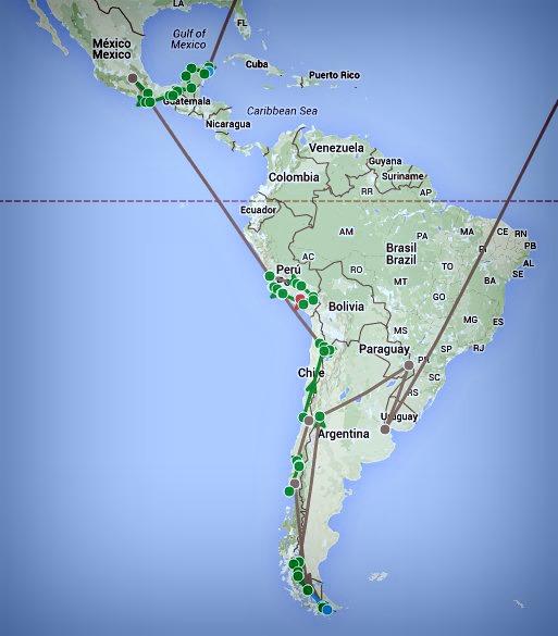 Itinéraire Amérique du Sud