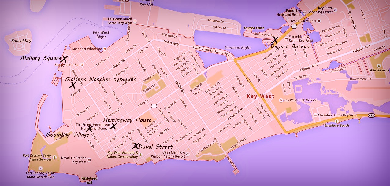 Map Key West