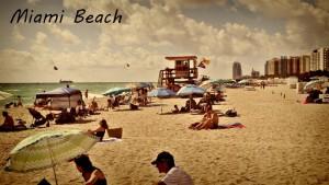 La plage à Miami Beach