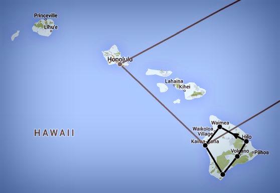 Itinéraire Hawai