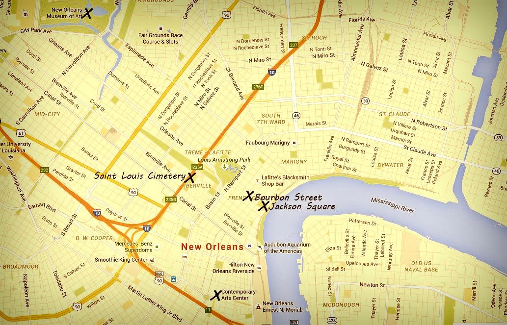 Carte Nouvelle Orleans