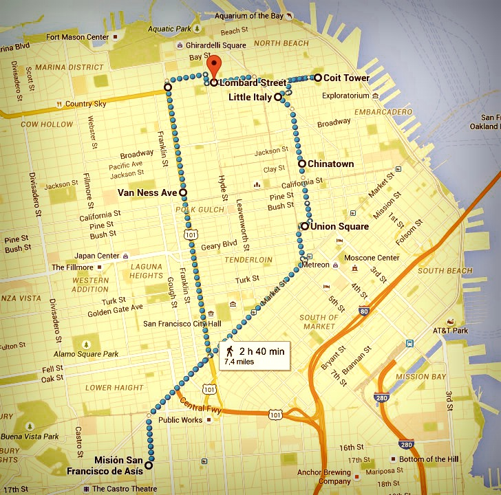 Itinéraire San Francisco Jour 2