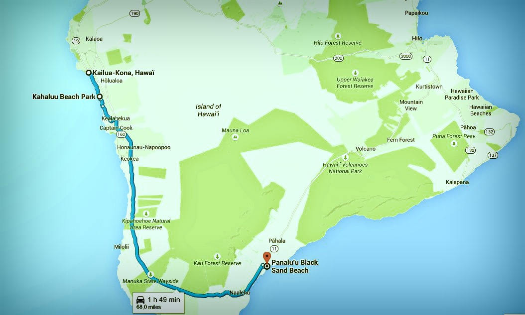 Big Island itinéraire J 3