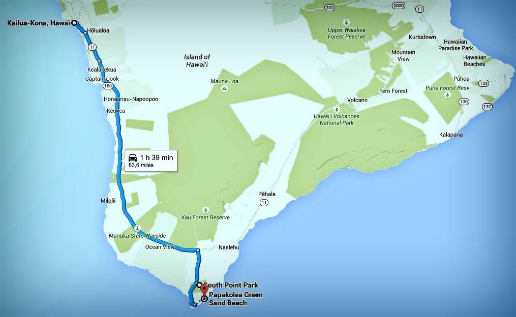 Big Island itinéraire jour 7