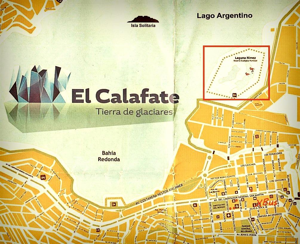 Plan el calafate patagonie