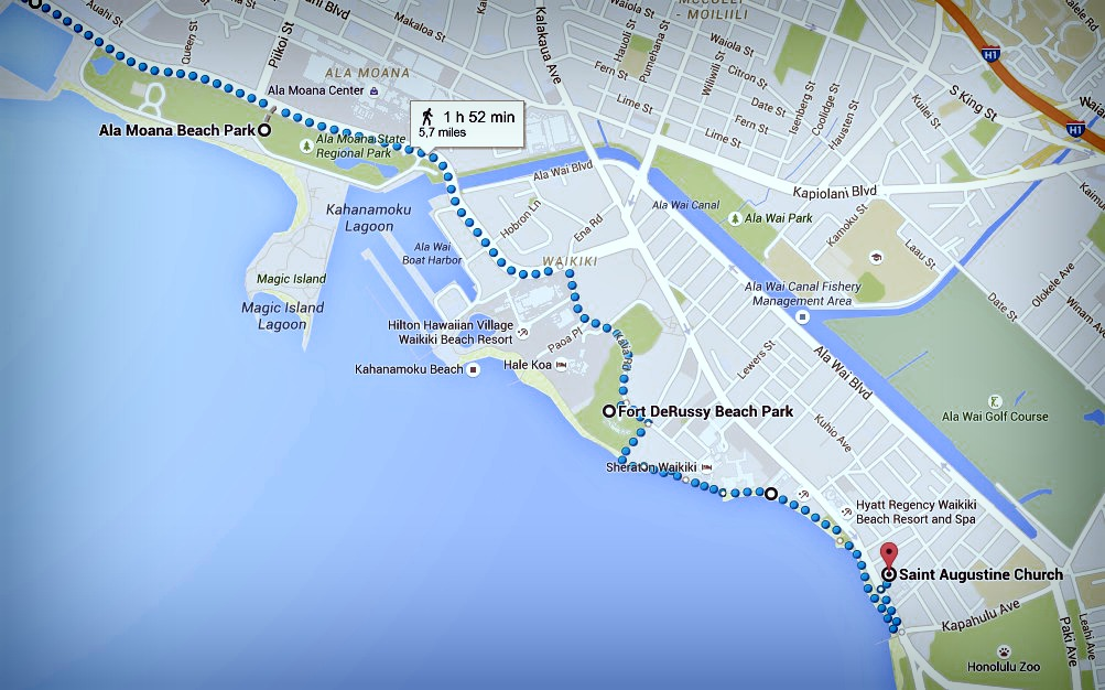 Fin zoom itinéraire Honolulu jour 2