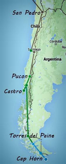 itinéraire chili 20 jours