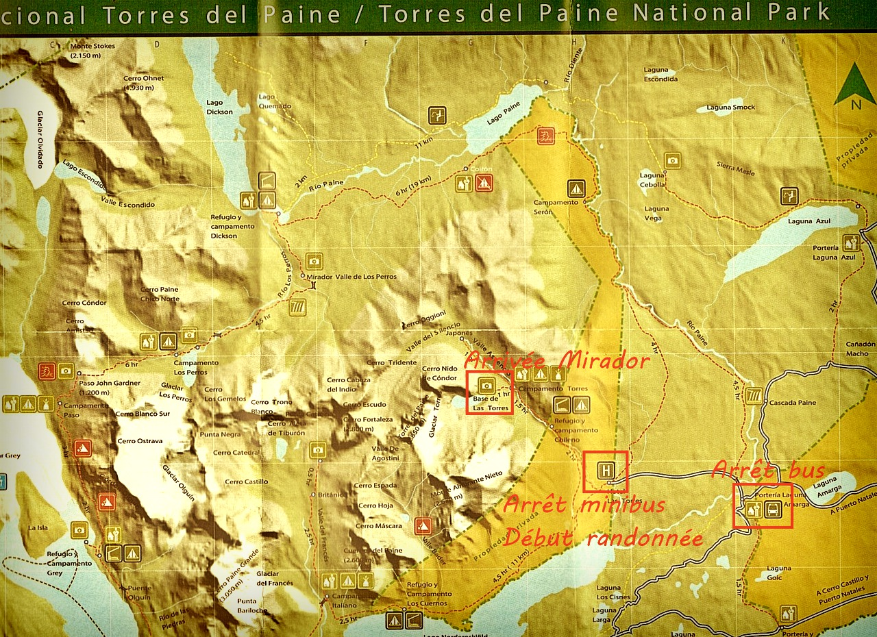 Itinéraire Torres del Paine