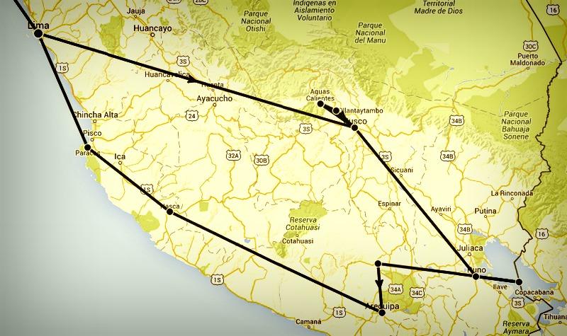 map pérou